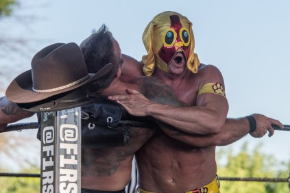 F1rst Wrestling Manders of the West and Renny D vs Thunderfrog and Yellow Dog 081521 8316