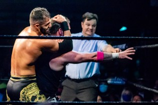 First Wrestling Wrestlepalooza Arik Cannon vs Ariya Daivari 01371