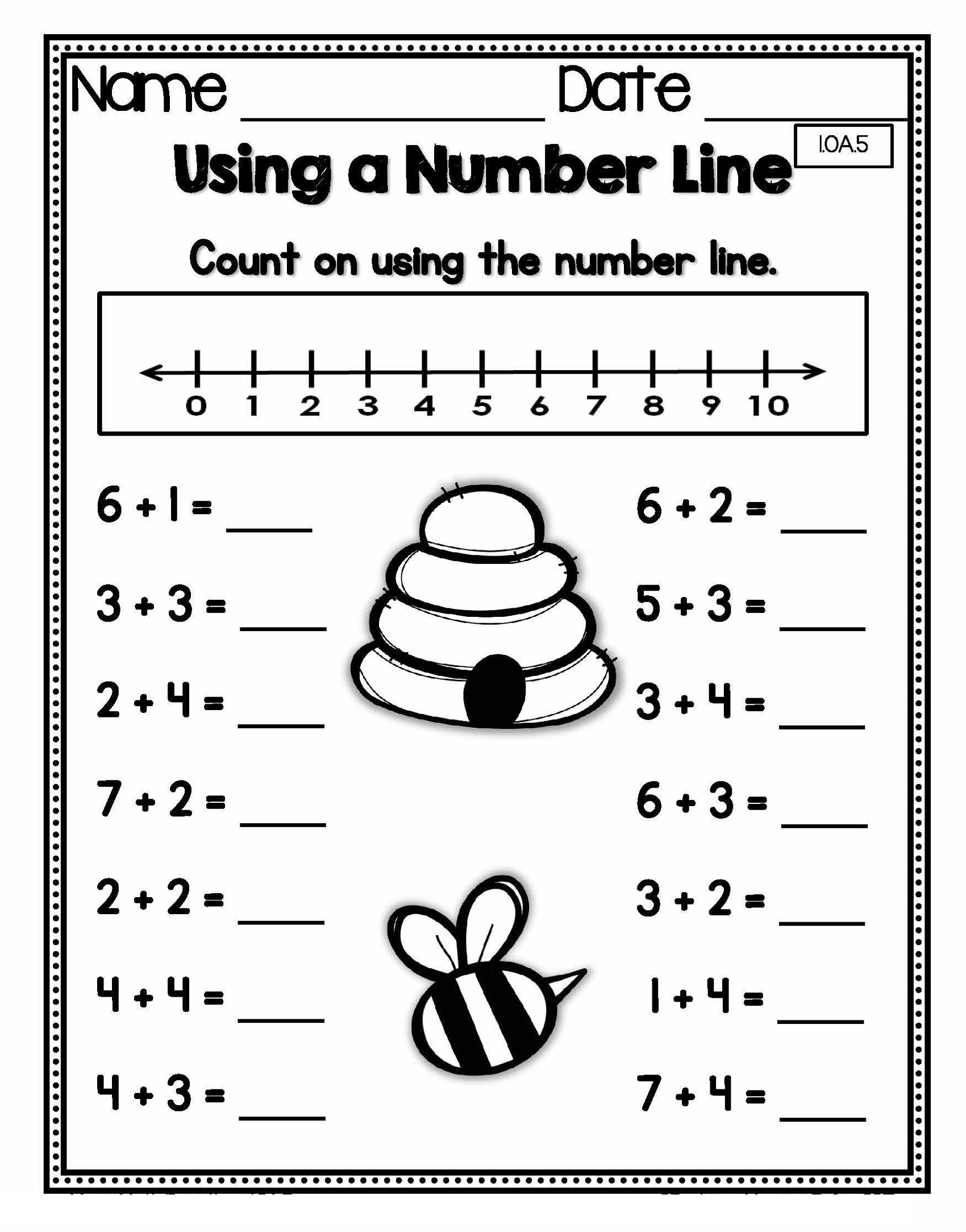 Printable Math Sheets For Grade 1