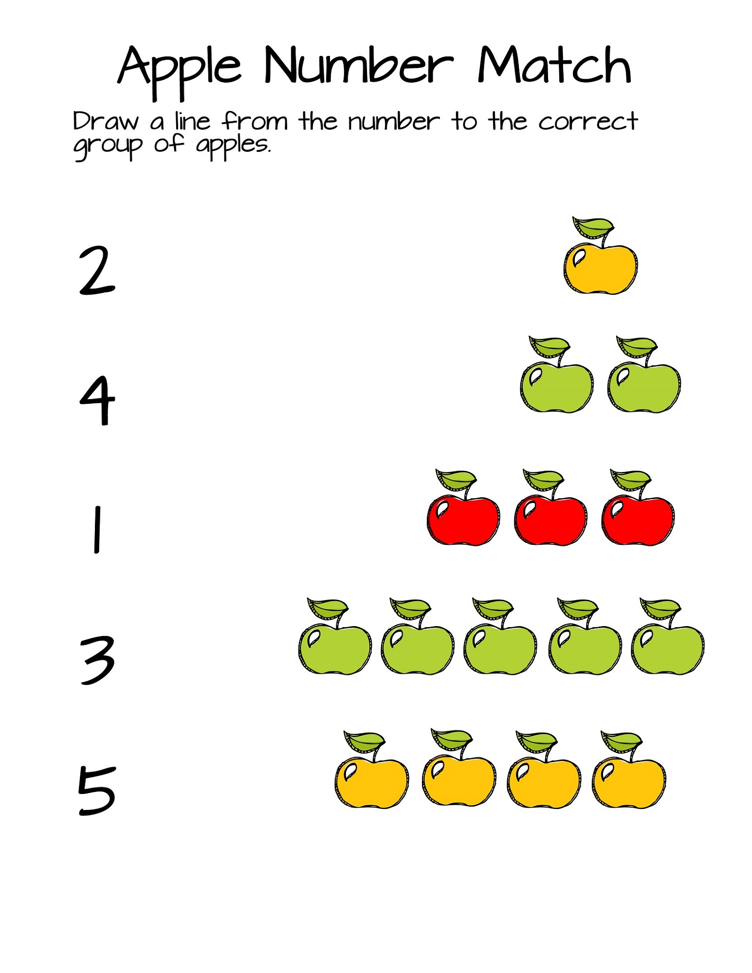 Numbers And Shapes Worksheets