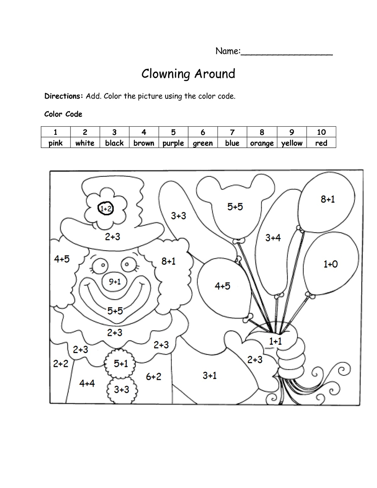 Math Fun Worksheets For Kids