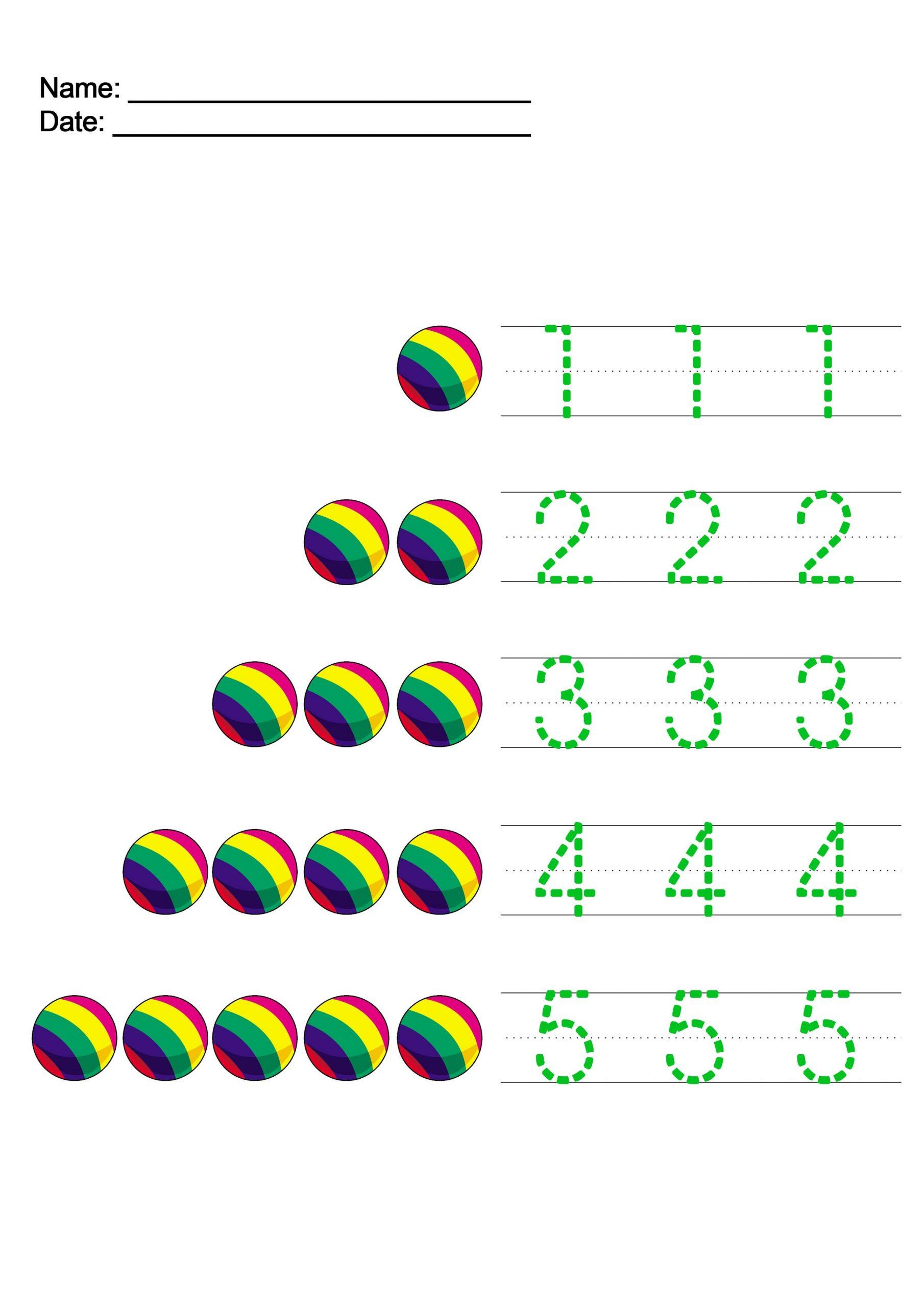 Writing Numbers Worksheet For Kids