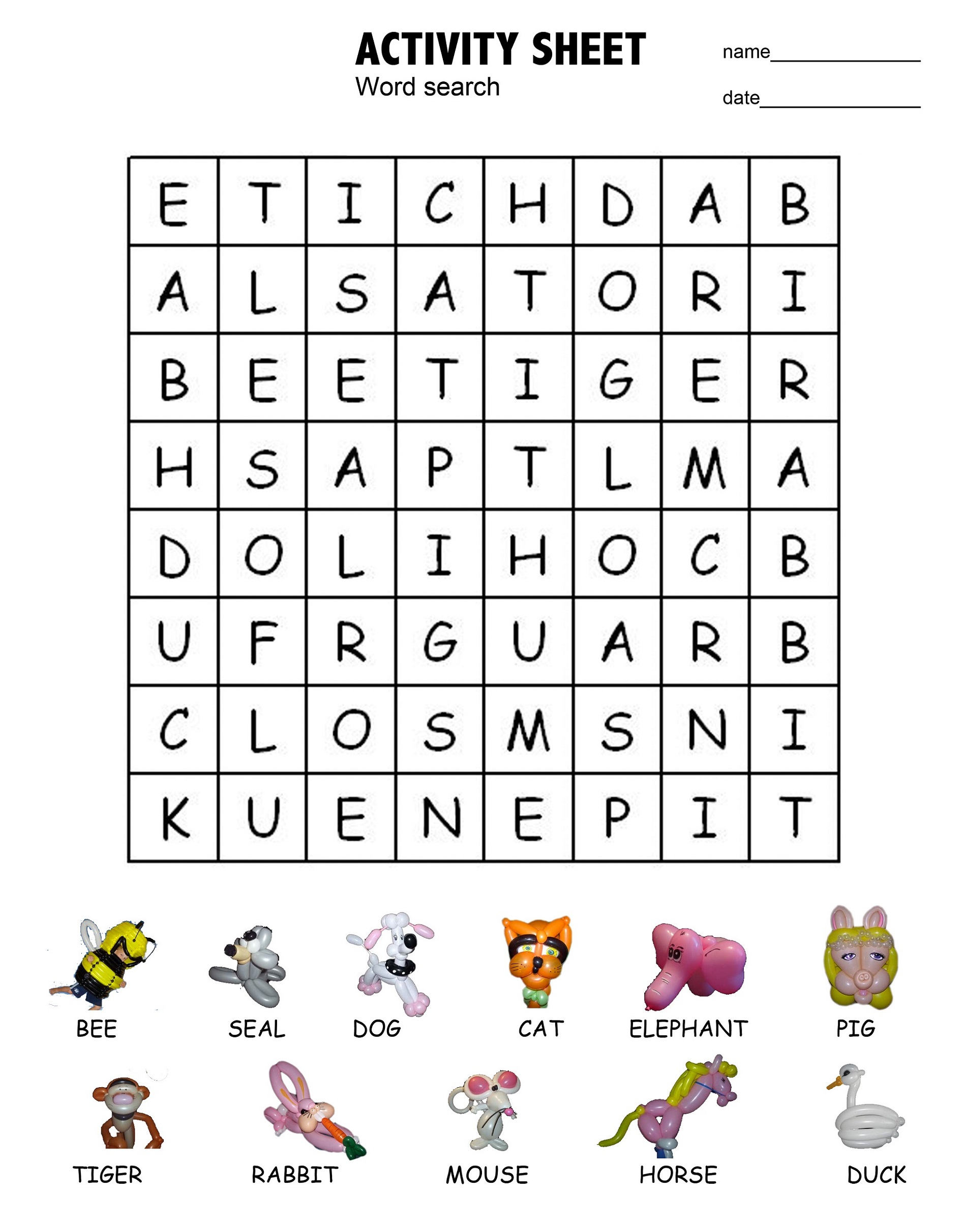 Word Search For Kids With Fun Themes