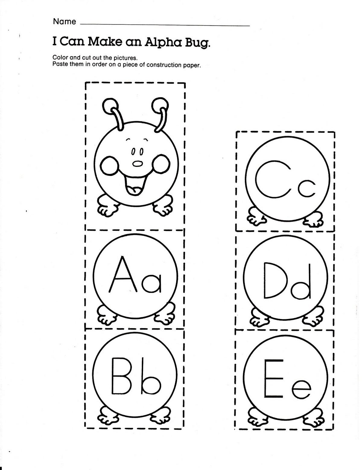 Alphabet Letter Worksheets For Kindergarten