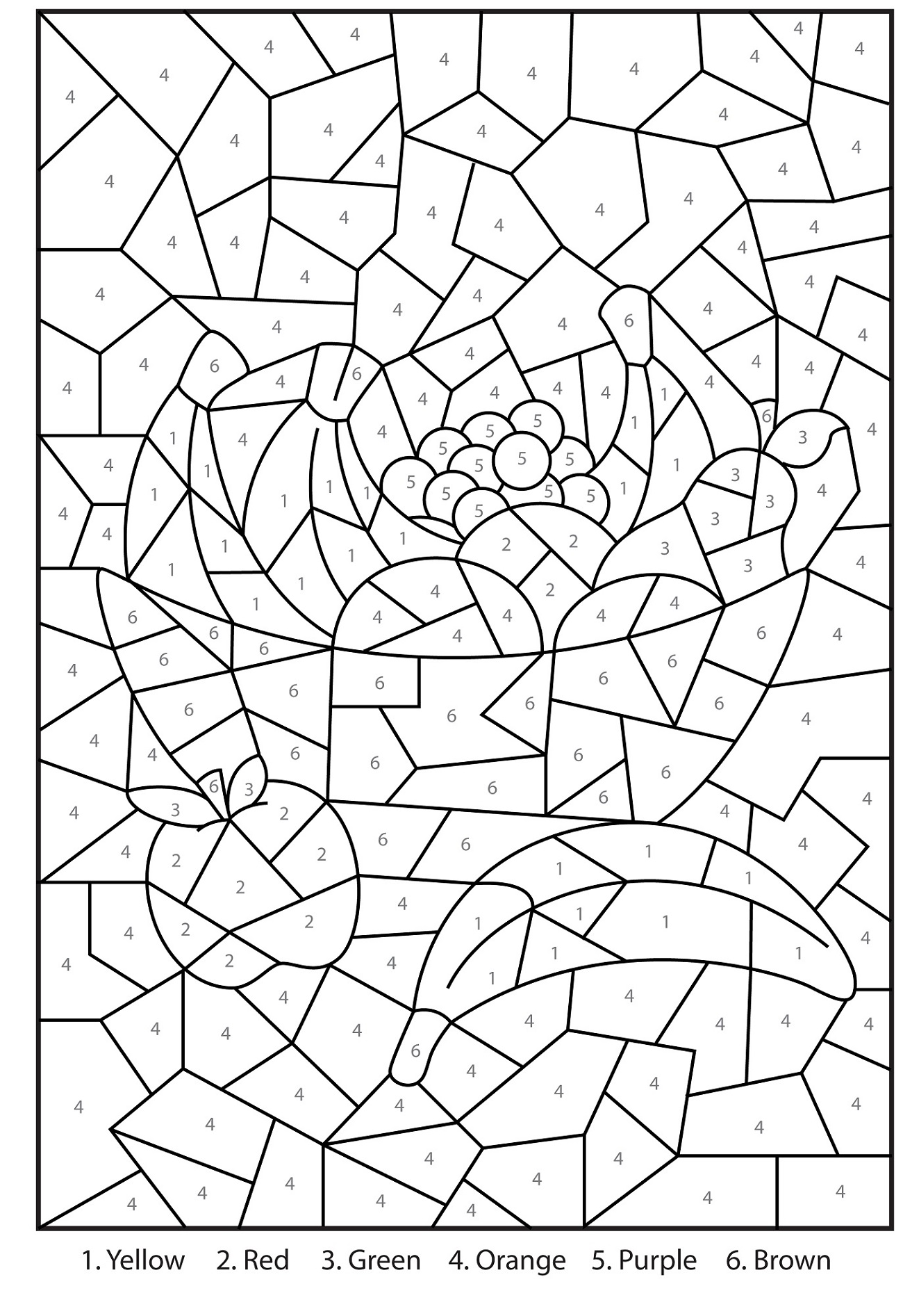 Color By Number Hidden Picture Worksheets
