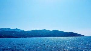 Thassos Adası uzaktan görünümü