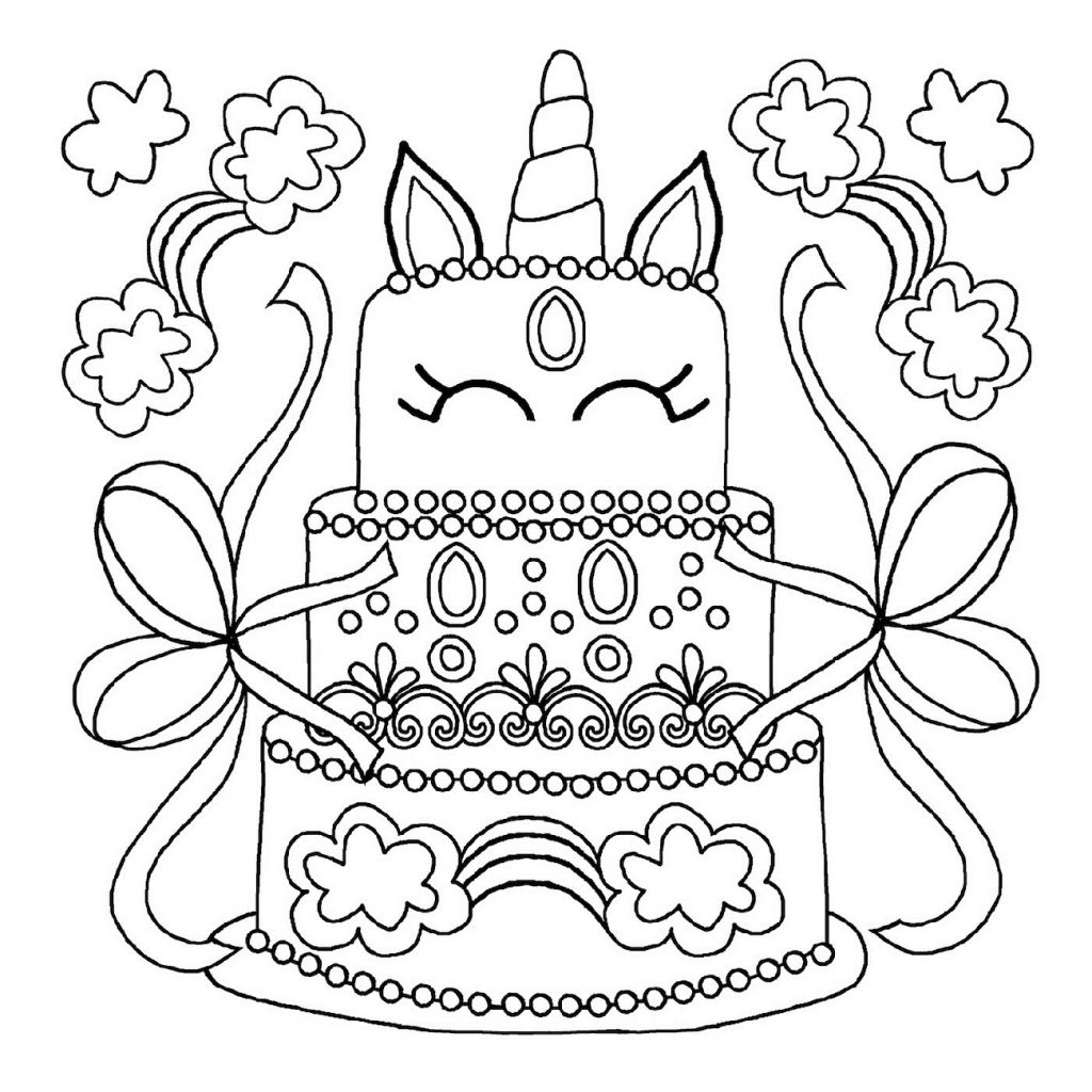 Birthday Cake Coloring Pages Printable 101 Coloring