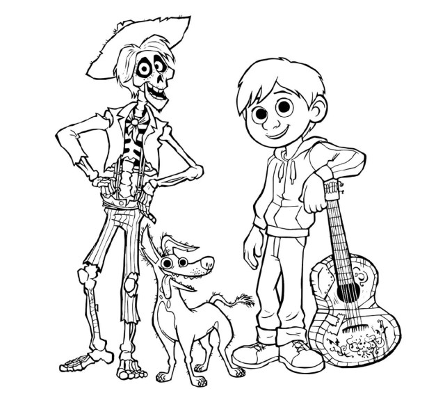 Pixar Coco Coloring Pages  30 Coloring