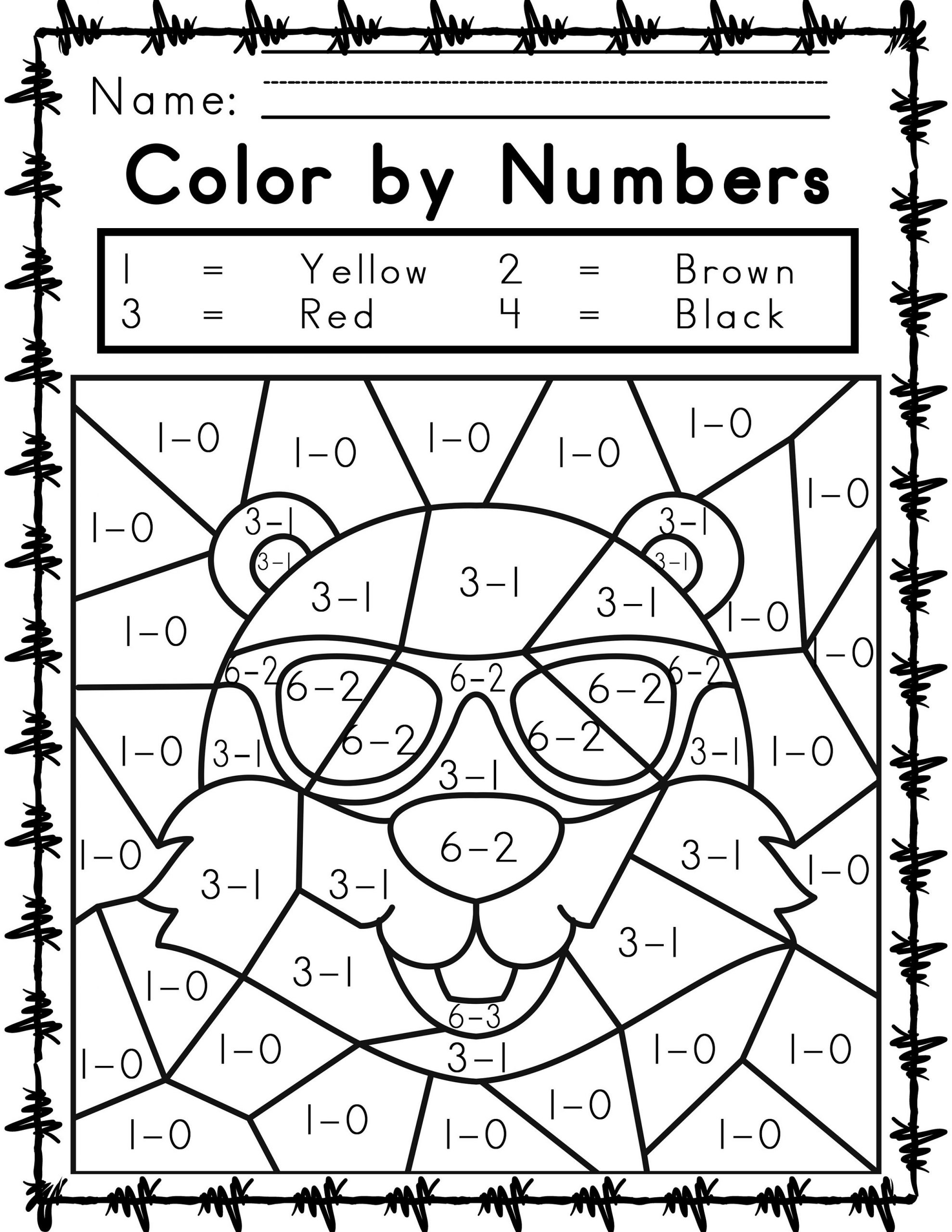 Printable Easy And Hard Color By Number Games