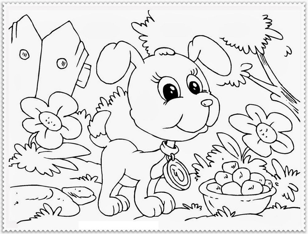 Dog Coloring Pages Free For Kids And Adults 101 Coloring
