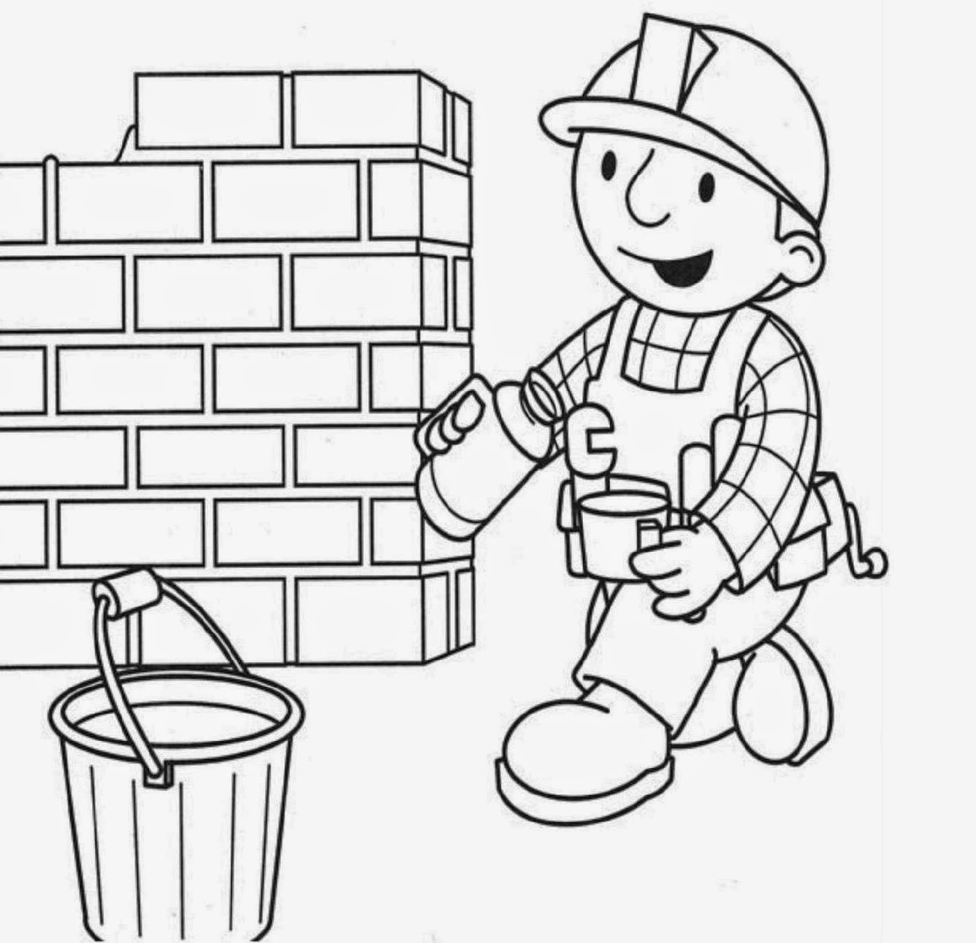 Bob The Builder Coloring Pages For Kids