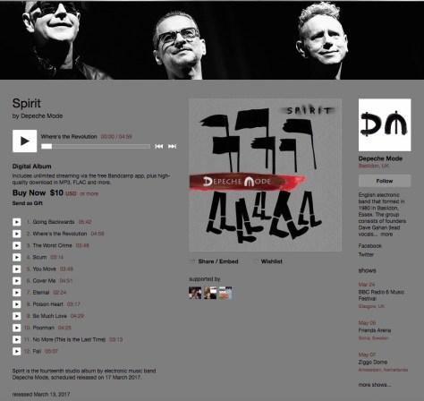 depeche MODE @ Bandcamp