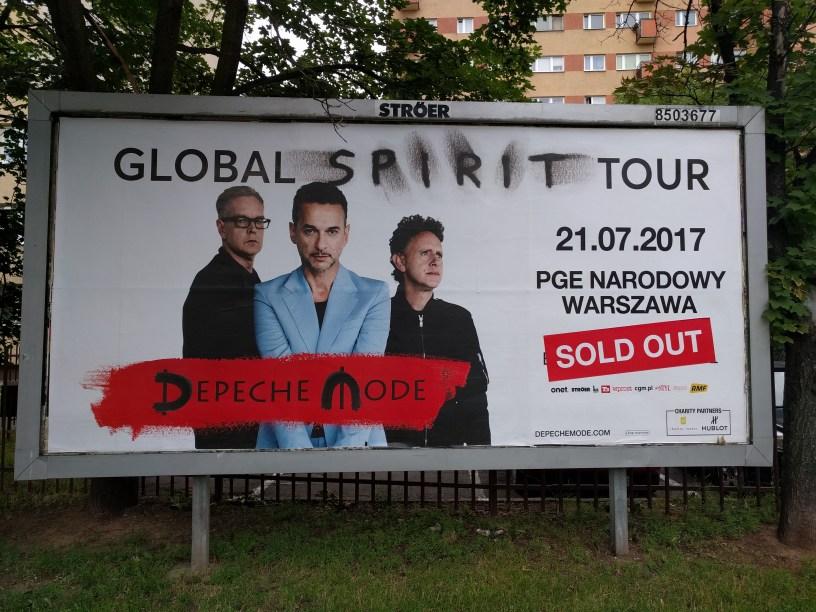 Plakat depeche MODE Warszawa 21.07.2017
