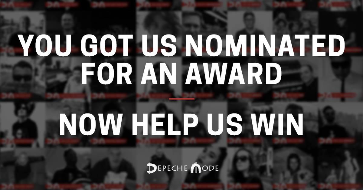Nominacje dla PRowców depeche MODE.