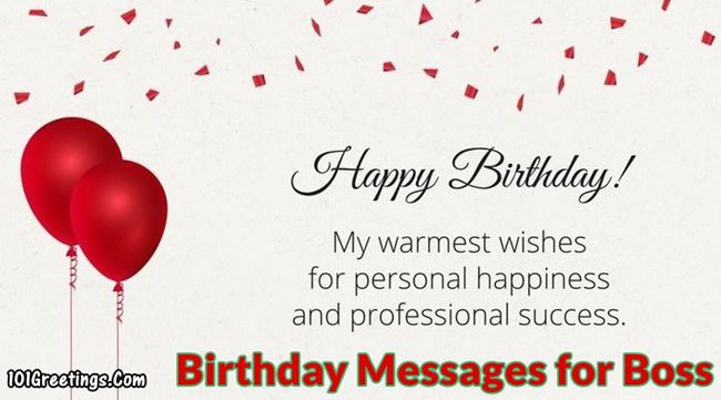 Best Formal Birthday Messages For Boss Manager Team Lead