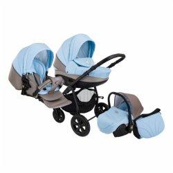 Детская коляска Tutis Tapu-Tapu 3 в 1 (серый/голубой)