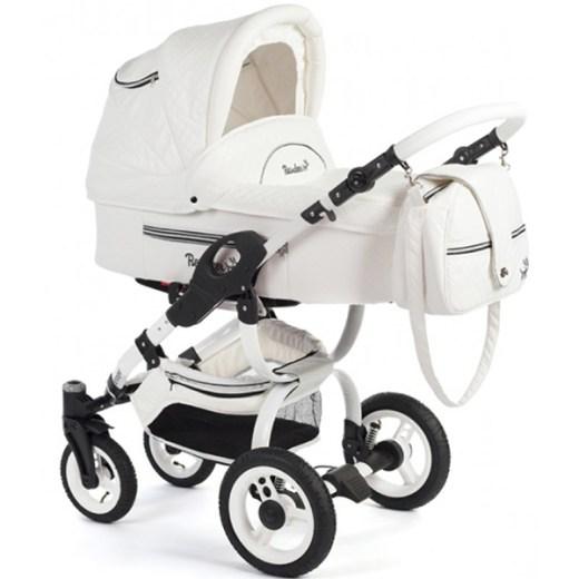 Детская коляска Reindeer City Lily 3 в 1, эко-кожа (Белый)