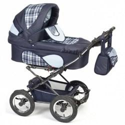 Детская коляска Reindeer Mega 2 в 1 (синий)