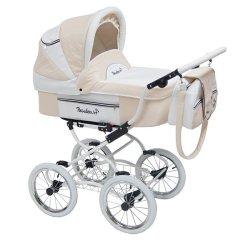 Детская коляска Reindeer Prestige Lily 2 в 1, эко-кожа (бежевый)