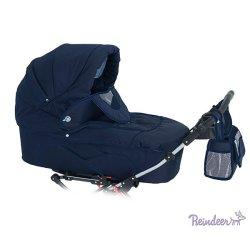 Детская коляска для двойни Reindeer Twin 2 в 1 (темно-синий)