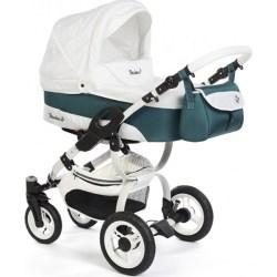 Детская коляска Reindeer City Nova 2 в 1 (Белый/зеленый)