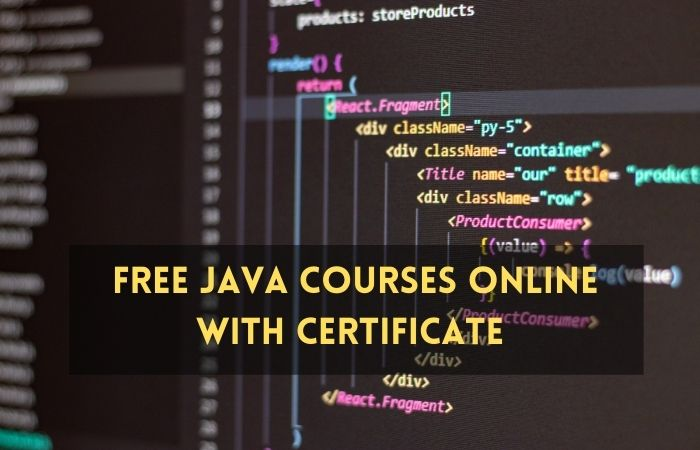 Free Java Courses Online with Certificate