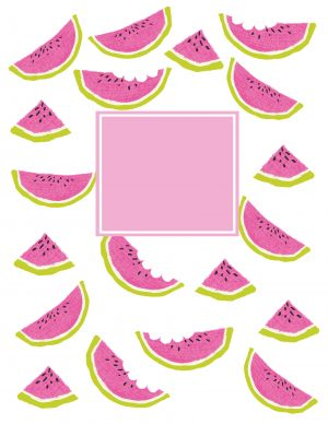 cute watermelon wallpaper