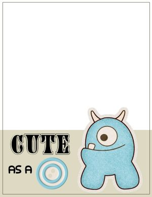 blue monster that is cute as a button