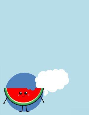kawaii watermelon