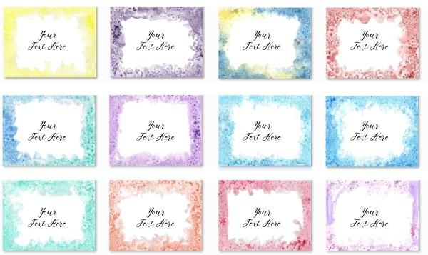 watercolor wallpaper borders