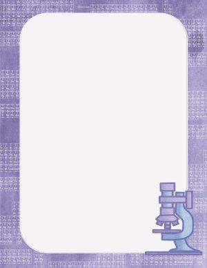 science borders printable with purple border