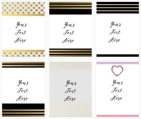 gold polka dots and black and gold stripes