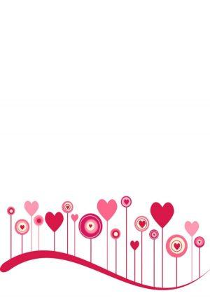 Free pink heart border