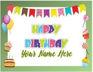 Happy birthday border design