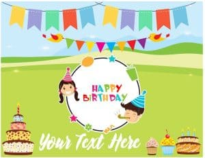 birthday background with clipart