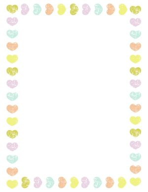 pastel colored hearts