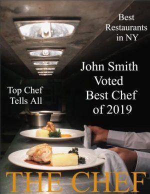 magazine cover for chefs or restaurants