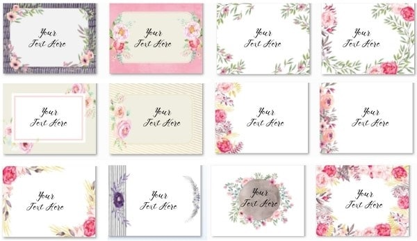 A selection of free printable floral backgrounds