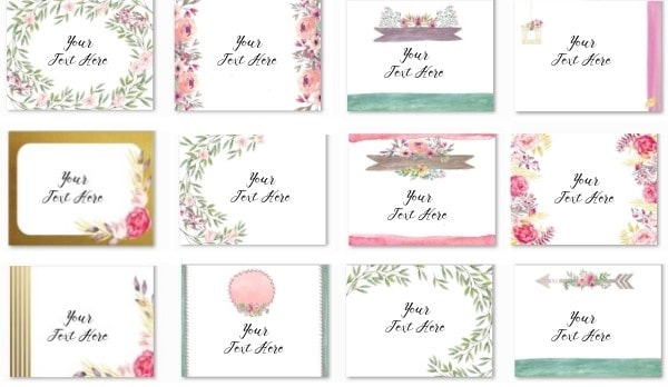 Free custom floral backgrounds that can be customized and then printed