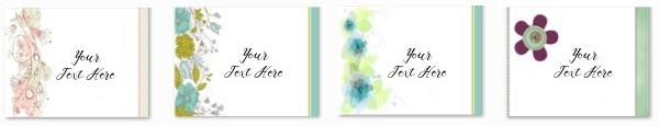 Select a flower background and add your text or image and then print