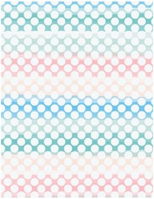 rainbow polka dot background