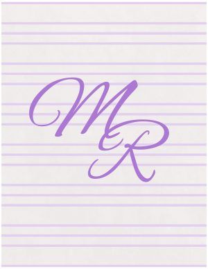 Background with monogram