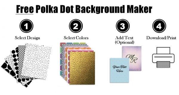 polka dot background maker