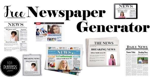 free newspaper generator
