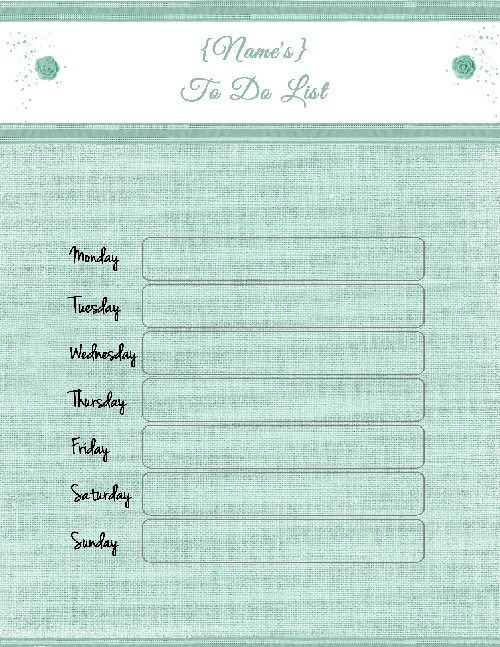 Free printable list of things to do