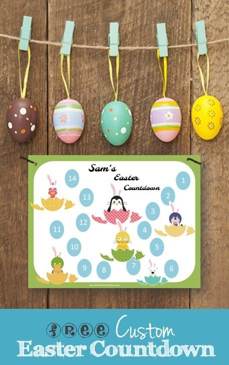 Free printable Easter countdown