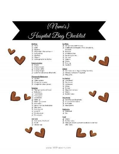 hospital bag checklist for mom