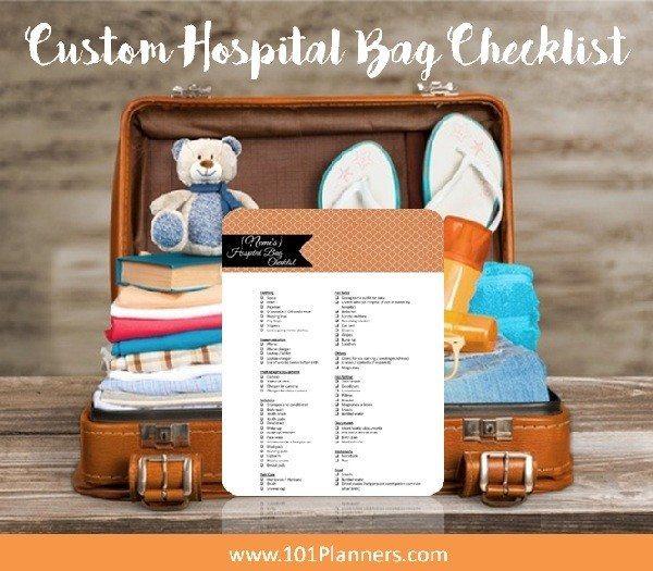 Free hospital bag checklist printable