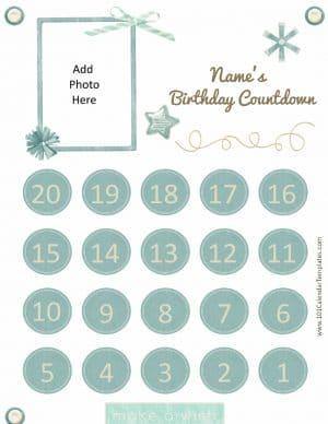 countdown till my birthday