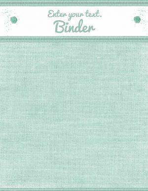 pretty binder cover